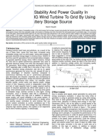 Increasing Stability and Power Quality in Connection Dfig Wind Turbine to Grid by Using Battery Storage Source