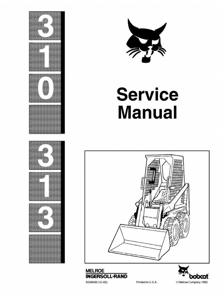 BOBCAT 313 SKID STEER LOADER Service Repair Manual.pdf