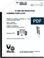EVALUATION  OF 8090 AND WELDALITE-049 ALUMINUM-LITHIUM  ALLOYS
