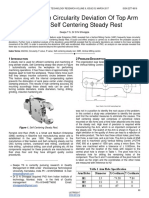 Case Study on Circularity Deviation of Top Arm Holes in Self Centering Steady Rest