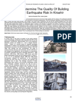 A Study to Determine the Quality of Building Stock and Earthquake Risk in Kirsehir