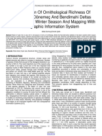Determination of Ornithological Richness of Erek Lake Dneme and Bendimahi Deltas Vanturkey in Winter Season and Mapping With Geographic Information System