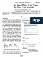 Microcontroller Based Spwm Single Phase Inverter for Wind Power Application