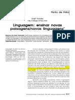 Linguagem Ensinar Novas Paisagens Novas Linguagens