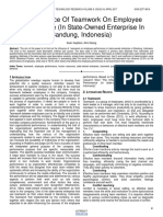 The Influence of Teamwork on Employee Performance in State Owned Enterprise in Bandung Indonesia