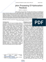 Thermal Adsorption Processing of Hydrocarbon Residues