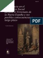 La violencia en el Imaginario Social durante el Virreinato de la Nueva España y sus posibles consecuencias a largo plazo. Xavier Sandoval