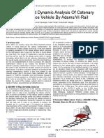 Modelling and Dynamic Analysis of Catenary Maintenance Vehicle by Adamsvi Rail