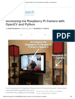 Accessing the Raspberry Pi Camera With OpenCV and Python - PyImageSearch