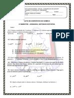 Química - Lista de Exercícios - Isótopos, Isóbaros e Isótonos.