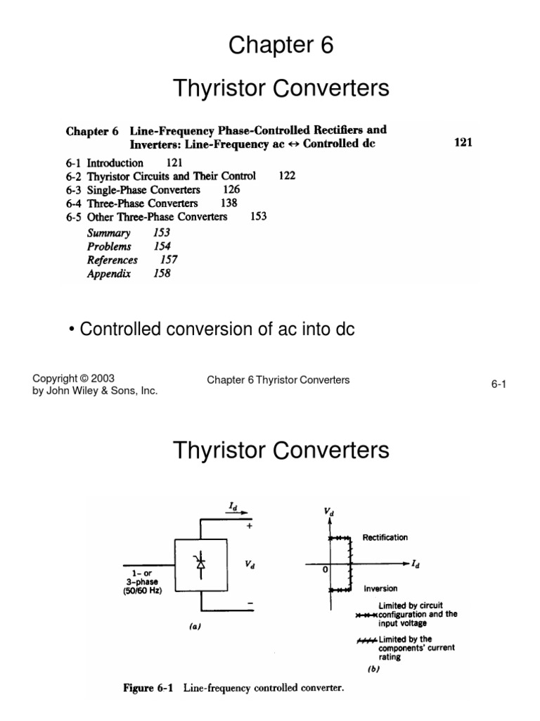 Ch6pdf Power Inverter Electronics Scr Need For Thyristors In Electronic Circuits Electrical