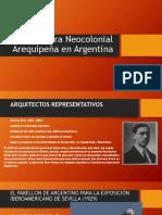 Arquitectura Neocolonial Arequipeña en Argentina