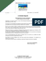 Communique de Presse Jl Lagourgue _deces Axel Kichenin