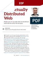 Disturbed the Web