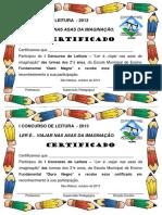 Certificado Do Concurso de Leitura