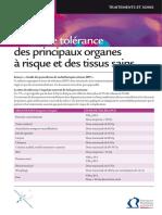 Dose Tolerance Principaux Organes Et Tissus Sains