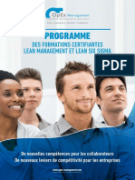 Formations Lean Six Sigma Opex Management