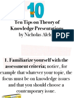 Ten Tips on Theory of Knowledge