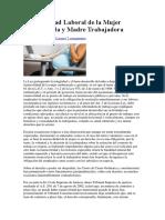 Inamovilidad Laboral de La Mujer Embarazada y Madre Trabajadora (1)