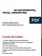 Literatura instrumental vocal e orquestral