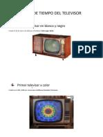 Lìnea de Tiempo Del Televisor