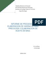 Informe Harina de Maiz Operaciones Pascal