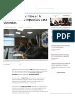 MEF Propone Cambios en La Exoneración de Impuestos Para Viviendas