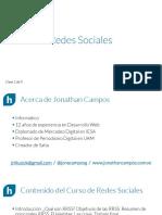 Cursos de Redes Sociales - Sesión 01