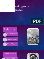 Different Types of Gospel- Jueves