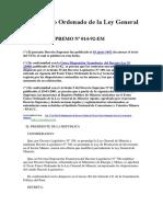 Texto Único Ordenado de La Ley General de Minería, DeCRETO SUPREMO Nº 014-92-EM- Spij- 29-06-17