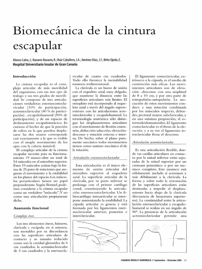 Biomecanica de La Cintura Escapular