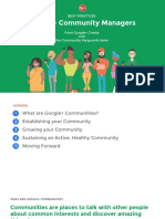 Best Practices for G+ Community Managers