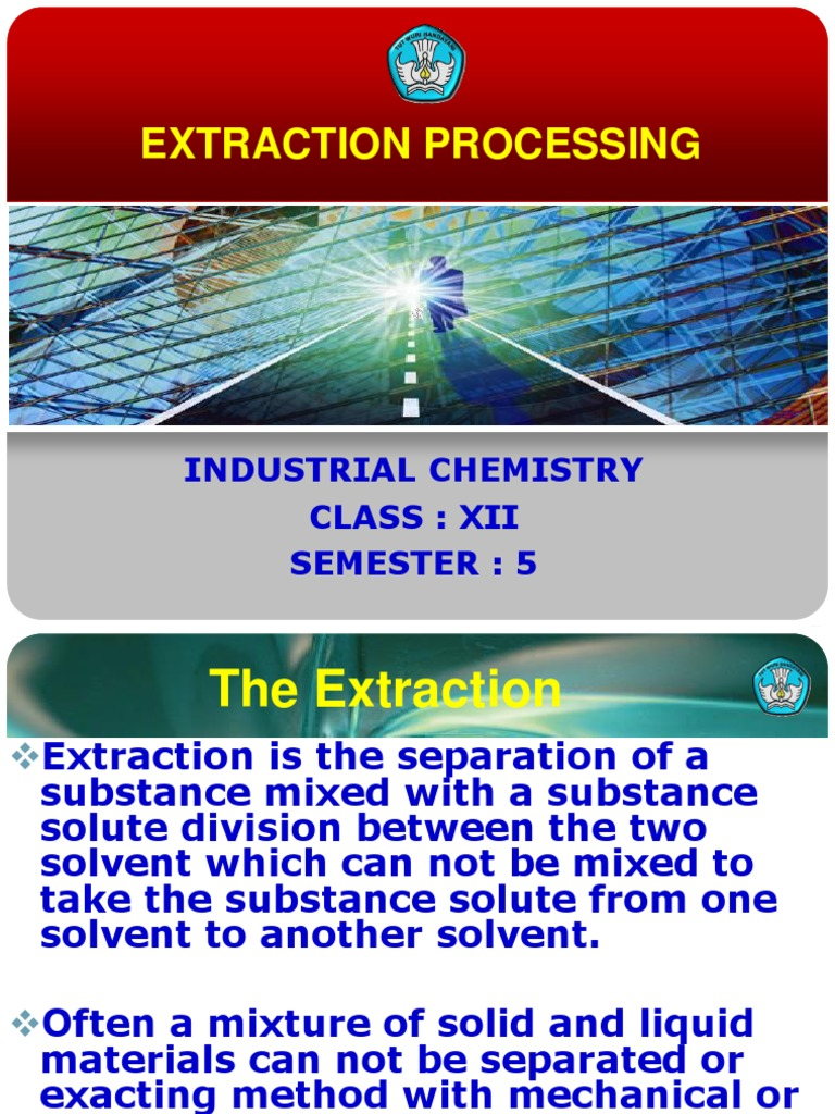 Extraction Ppt Solution Solvent
