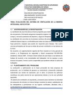 Evaluación Del Sistema de Ventilación de La Compañía Minera Anyu - Patan