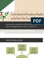 Panorama atual das ADIs interpostas em face dos dispositivos da Lei 12651.pdf