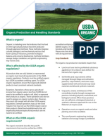 Organic Food processing and handling by the USDA