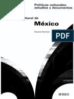 La Política Cultural de México, Eduardo Martínez 1977