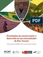 Prioridades de Conservacion y Desarrollo en Las Comunidades de Nor Yauyos