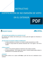 Instructivo justificación no emisión de voto (exterior)