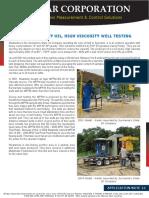 Agar Heavy Oil Well Testing Appl