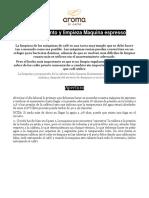 Manual de Procedimiento - Uso y Mantenimiento Cafeteras