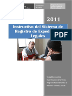 Instructivo Del Sistema de Registro de Expedientes Legales Del Cem