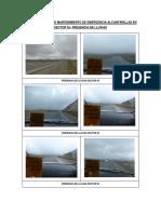 Panel Fot. Alcantarillas Sector 05 Presencia de Lluvias