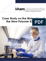 WLL Case Study on Testing the Biobu  rden of the New Polymer £5 Note