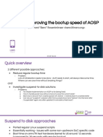ELC17 - Improving the Bootup Speed of AOSP