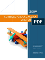 Actitudes Públicas Acerca de la Ciencia B.C. 2009