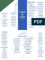 Land & Lake 2-Sided Menu