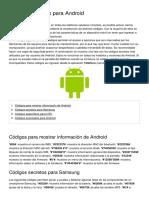 Codigos Secretos Para Android