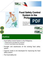 Food Safety Control System in the Philippines