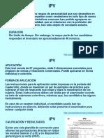 INVENTARIO DE PERSONALIDAD DE VENDEDORES (IPV)